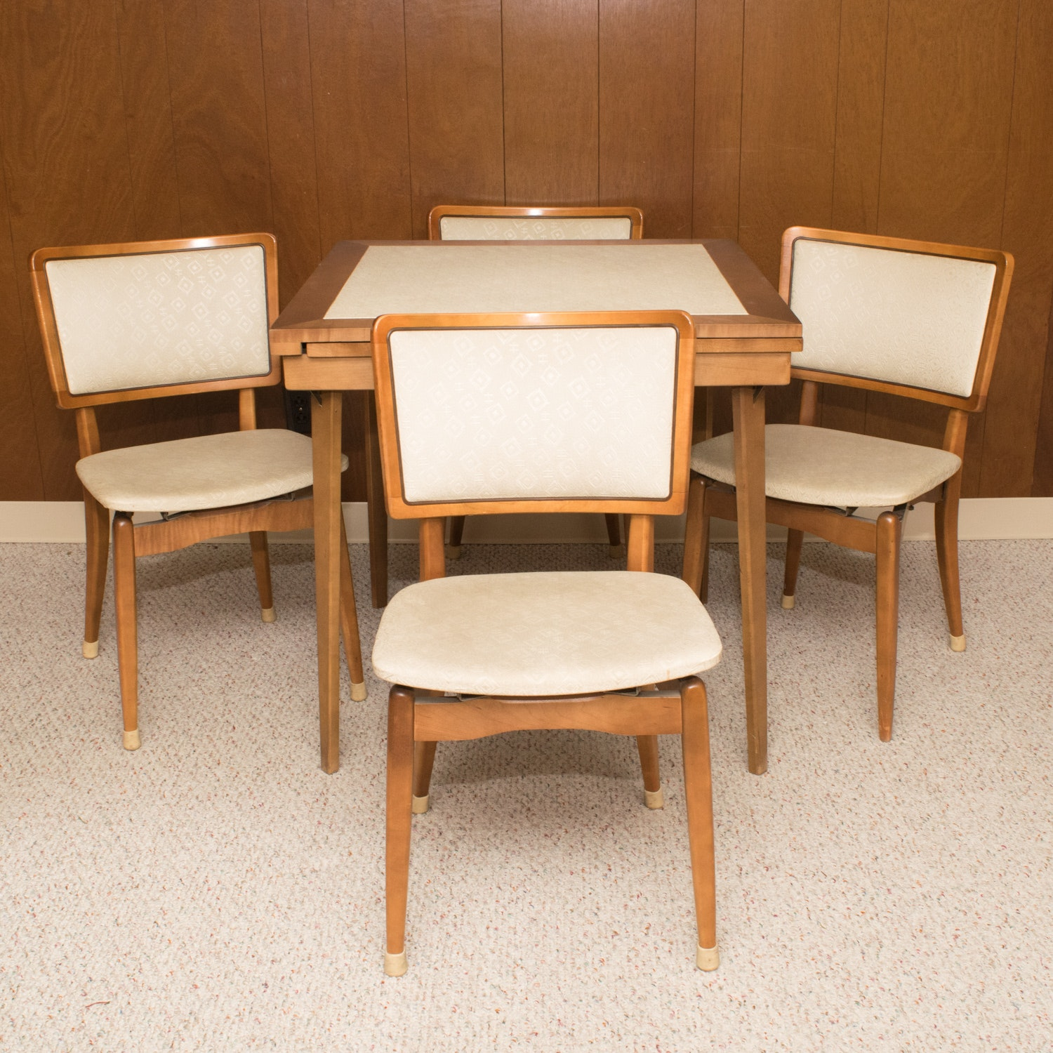 vintage cosco quot fashionfold quot chairs and folding card table