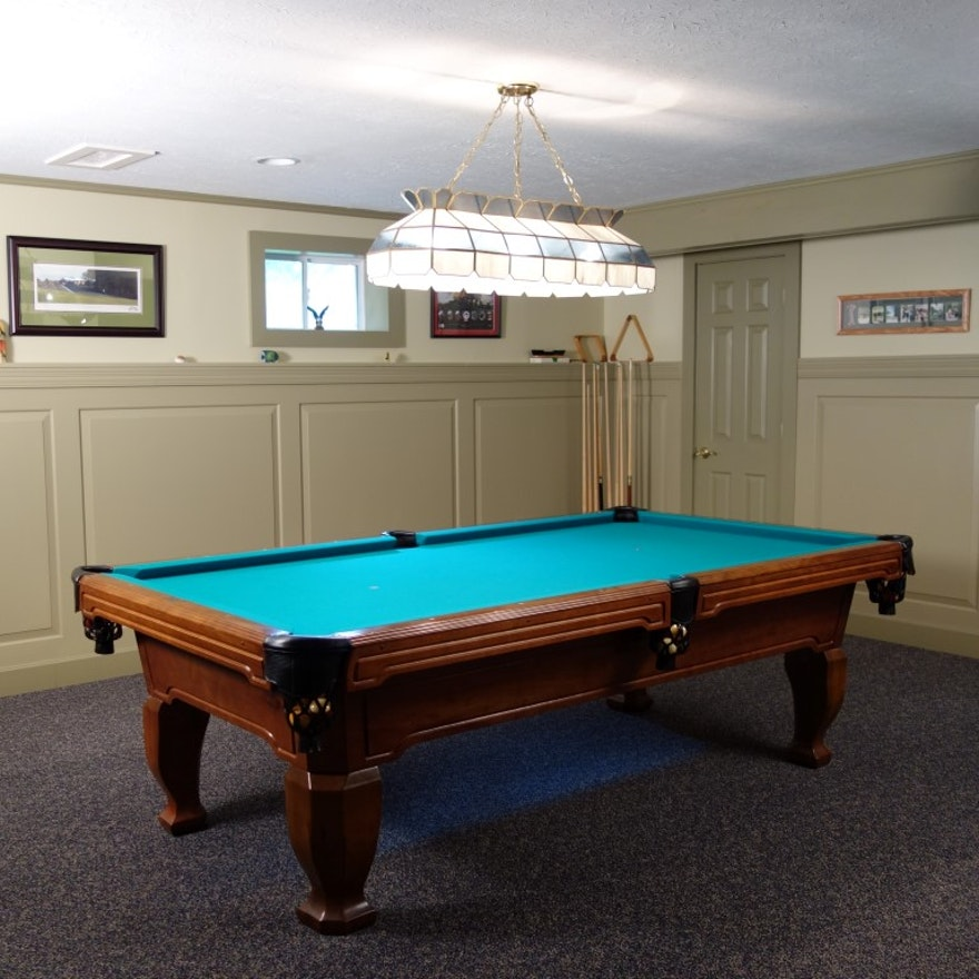 Brunswick Madison Brazilian Maple Billiards Table EBTH - Brunswick madison pool table