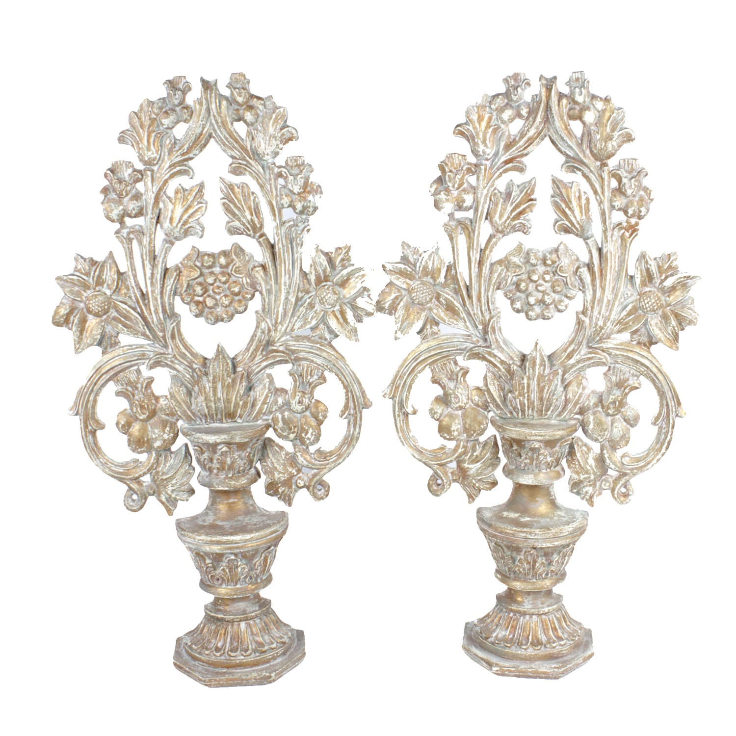 Pair of Festoni Floral Fireplace Decor