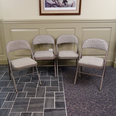 set of four vintage wooden folding chairs ebth