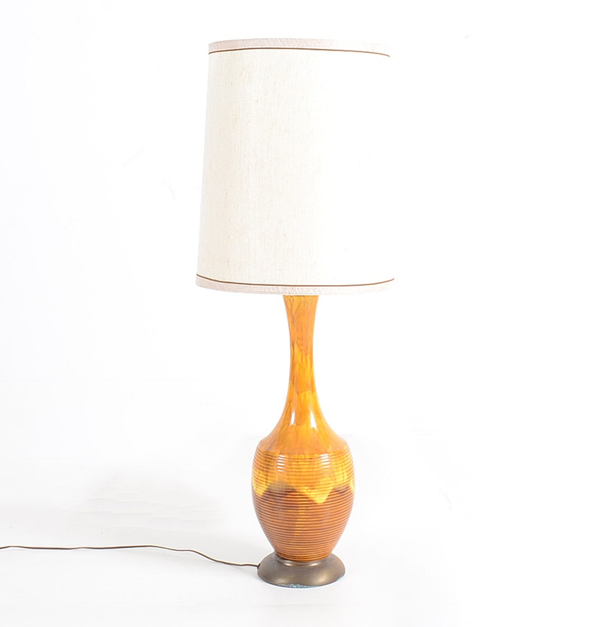 Modern ceramic table lamps - Large Mid Century Modern Ceramic Table Lamp