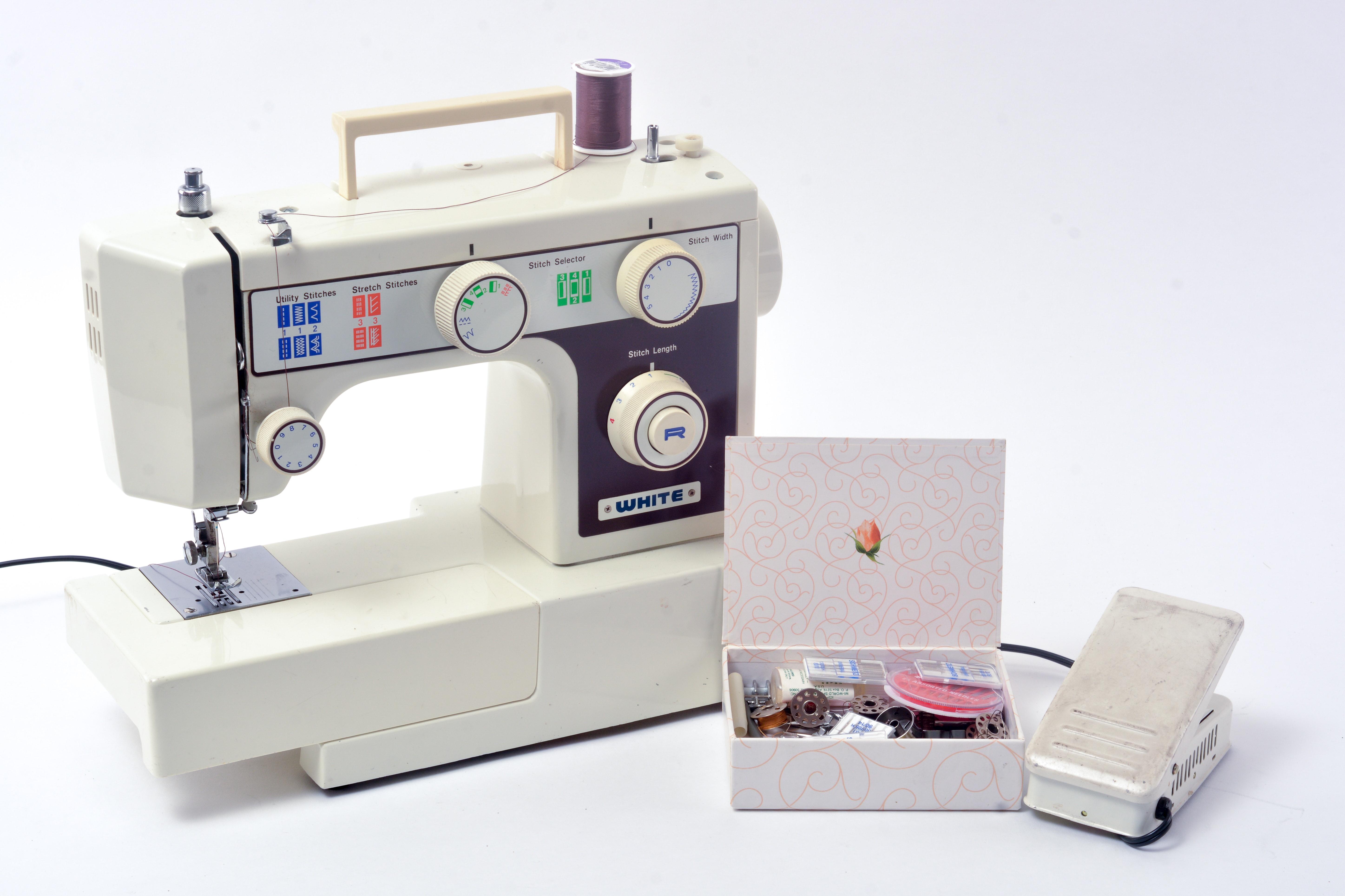 vintage white sewing machine manual