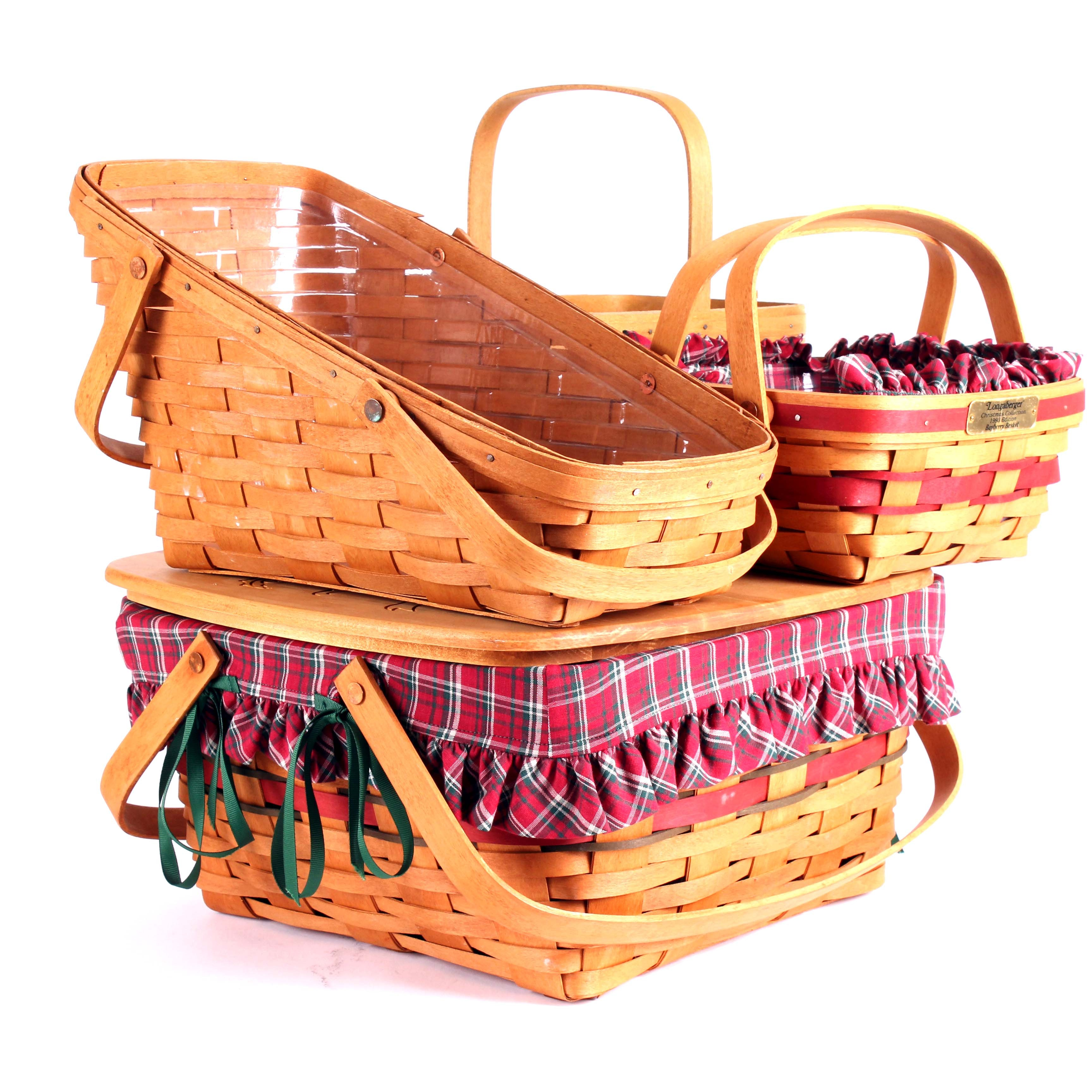 Collection of four Longaberger Handmade Baskets