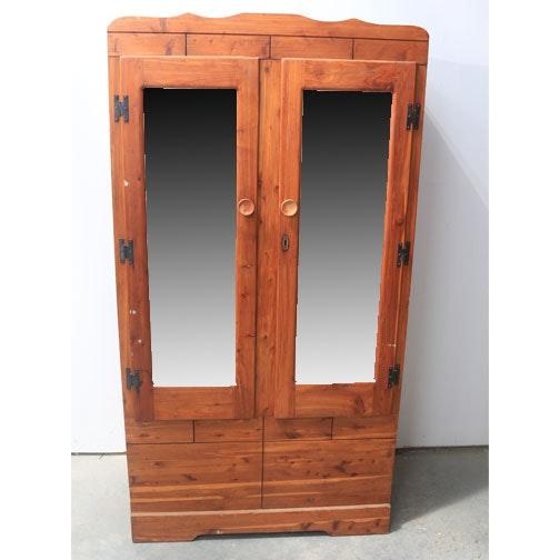 Cedar Armoire With Mirror Doors ...
