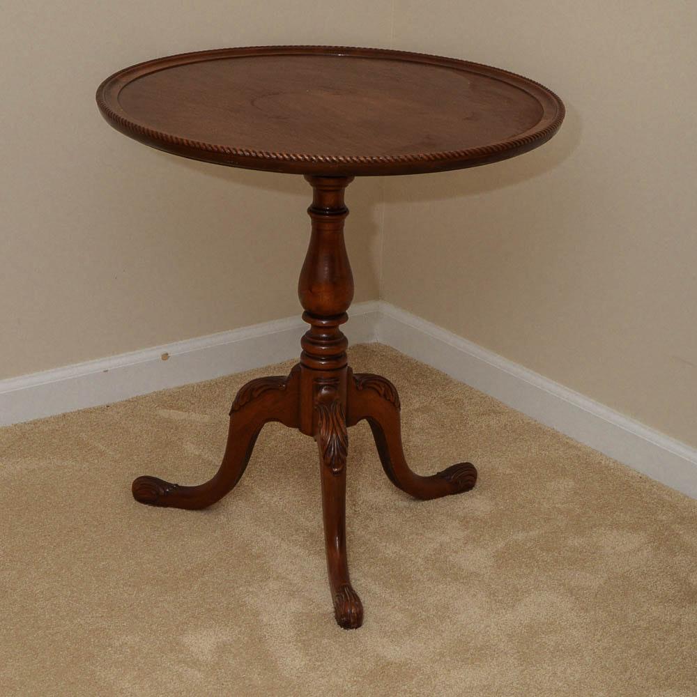 brandt mahogany round side table : ebth