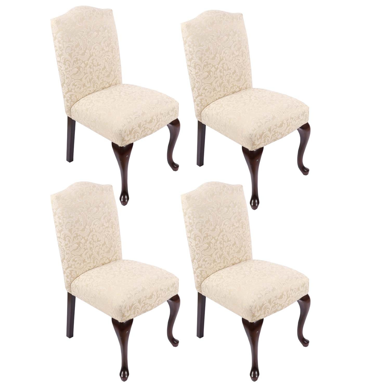 Charmant Set Of 4 Bombay Company Dining Chairs ...