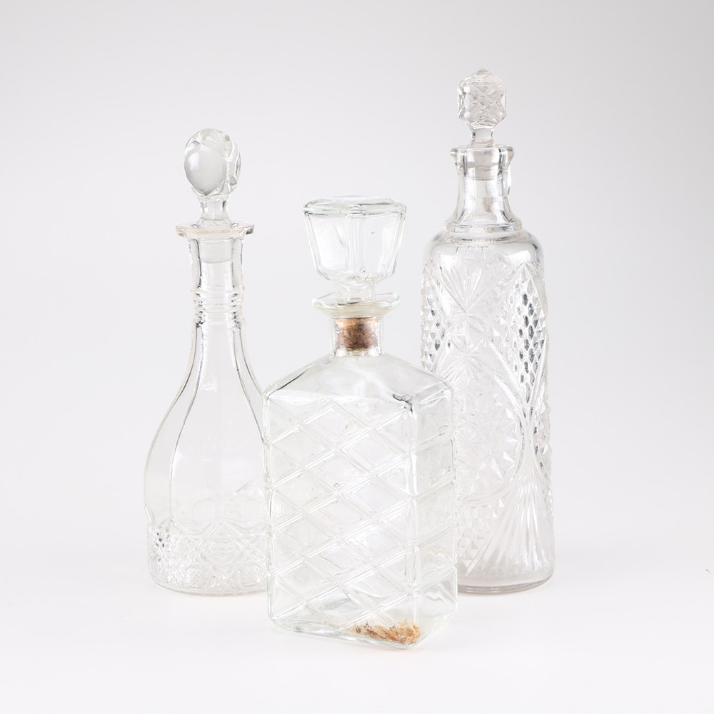 Collection of Glass Decanters