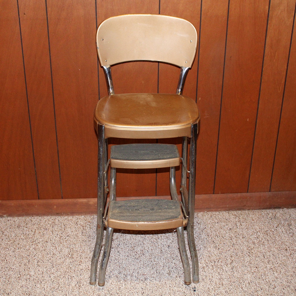 Vintage Stylaire Combination Chair And Step Stool Ebth