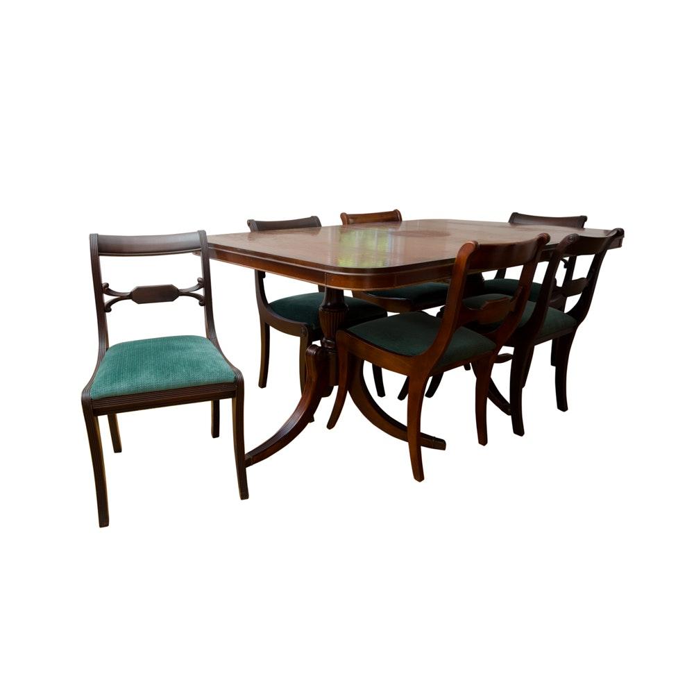 Bassett Duncan Phyfe Style Dining Set