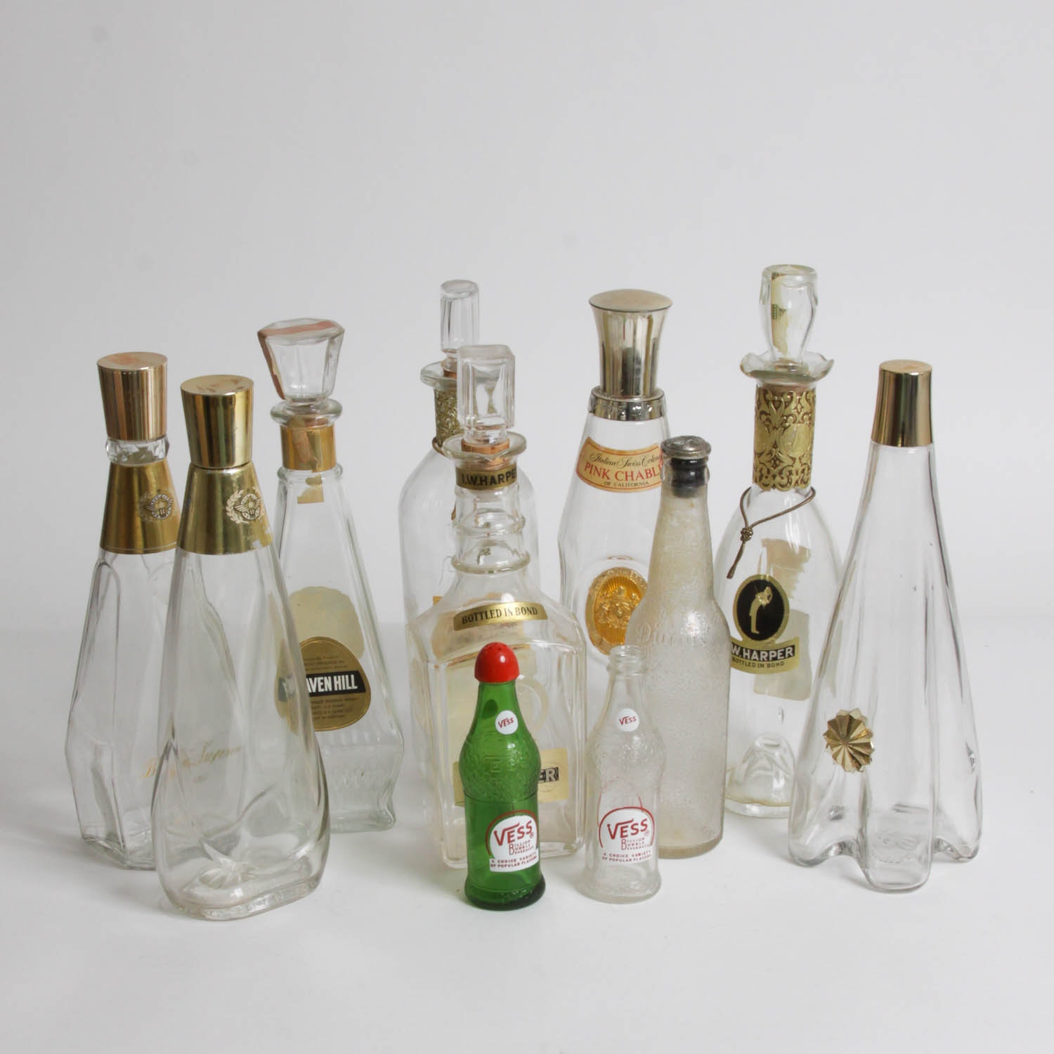 Liquor Decanter and Soda Bottle Collection