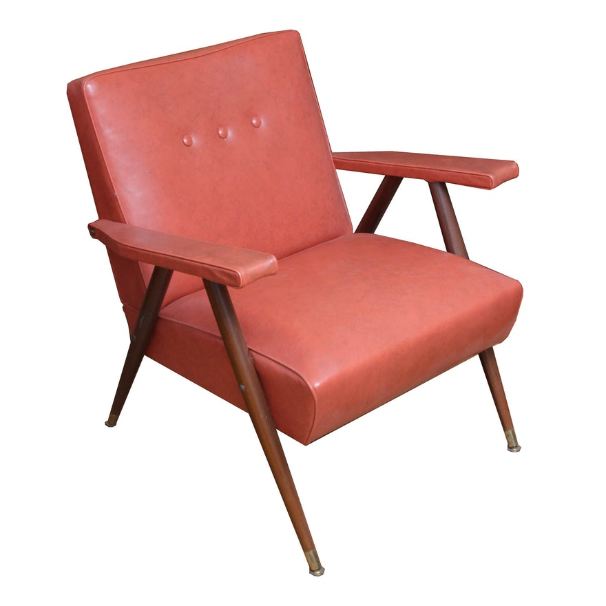 Sensational Mid Century Modern Naugahyde Armchair Machost Co Dining Chair Design Ideas Machostcouk