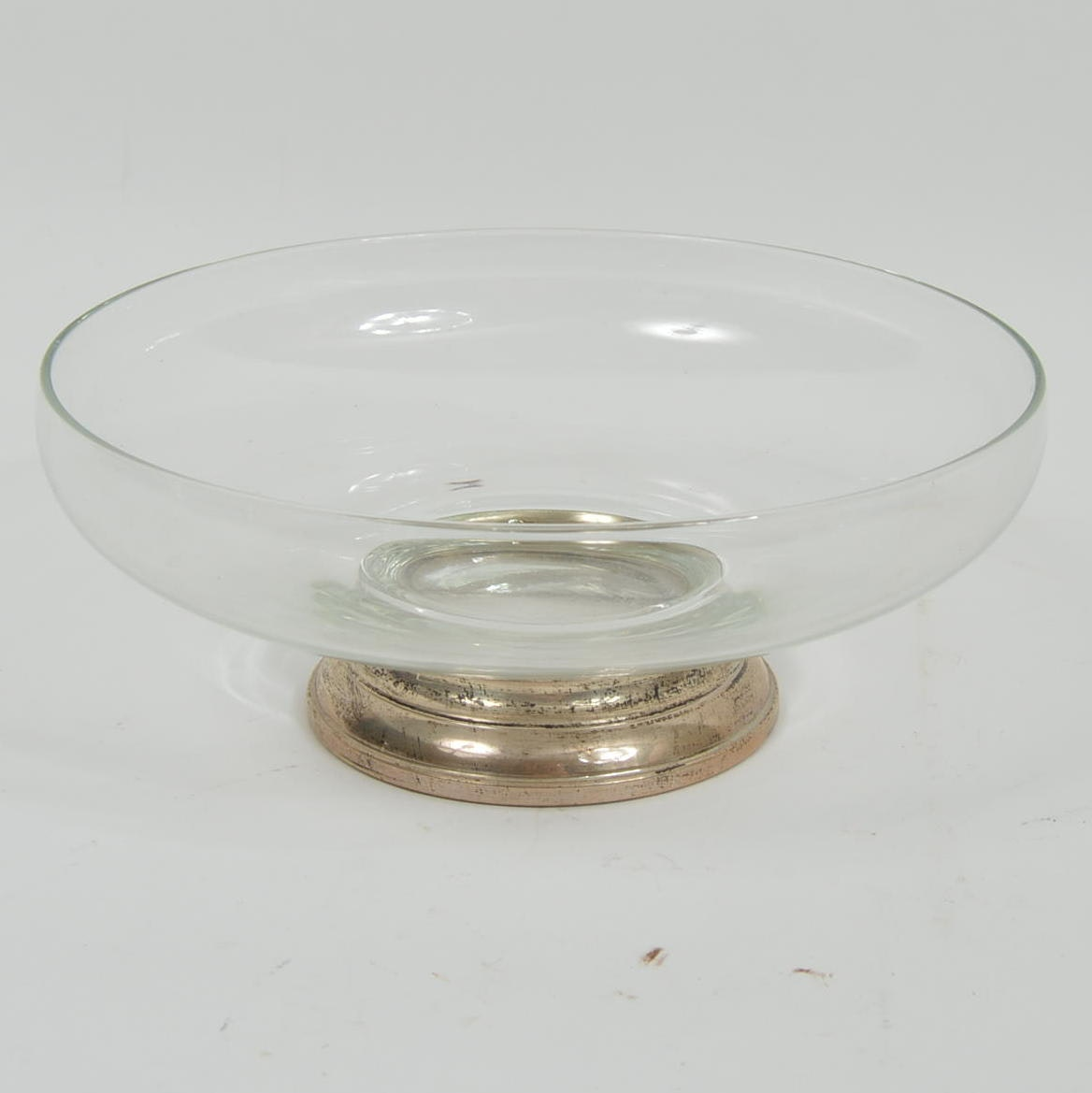 Glass Bowl with Sterling Silver Base