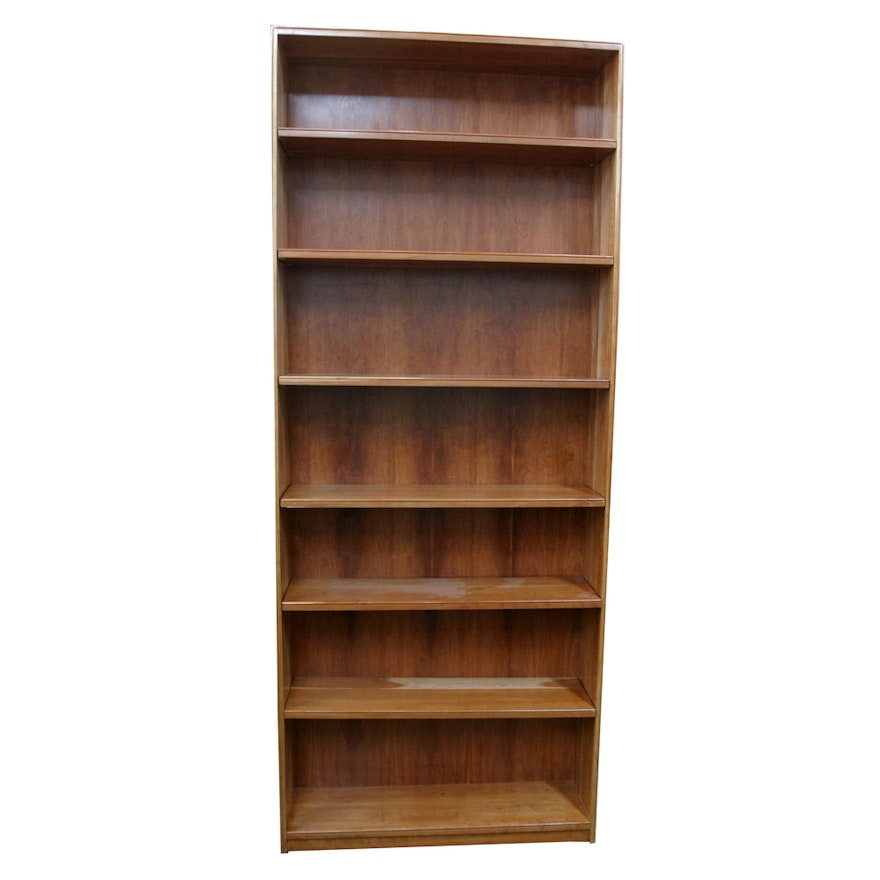 8 Foot Tall Cherry Bookcase