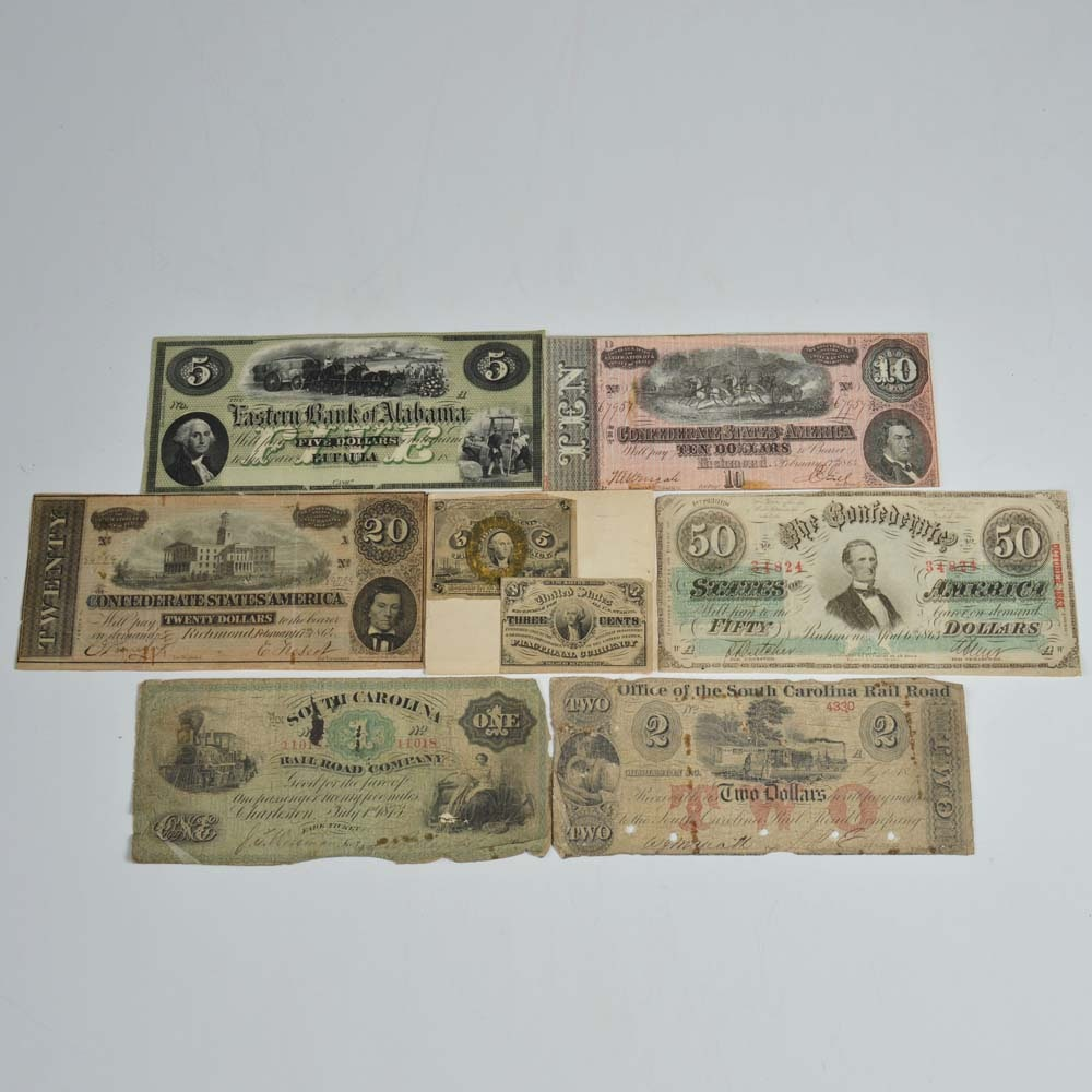 Collection of Civil War Era Fractional Currency