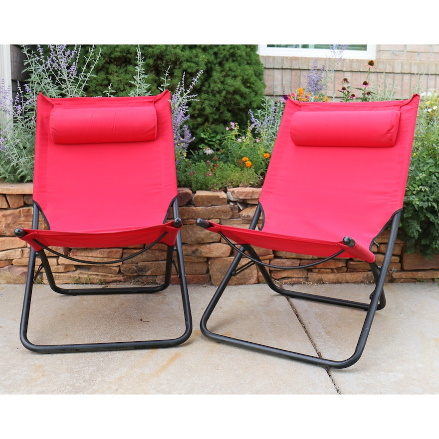 Fantastic Pair Of Red Folding Patio Chairs Gmtry Best Dining Table And Chair Ideas Images Gmtryco