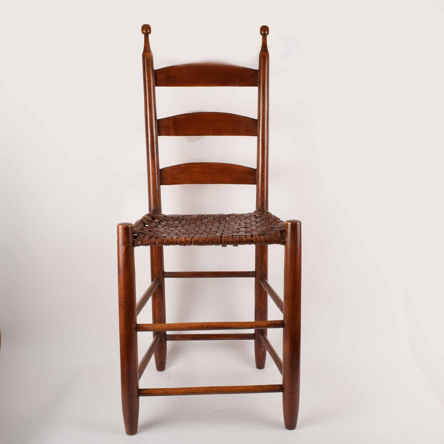 Antique Shaker Style Cherry Weaver's Chair ... - Antique Shaker Style Cherry Weaver's Chair : EBTH