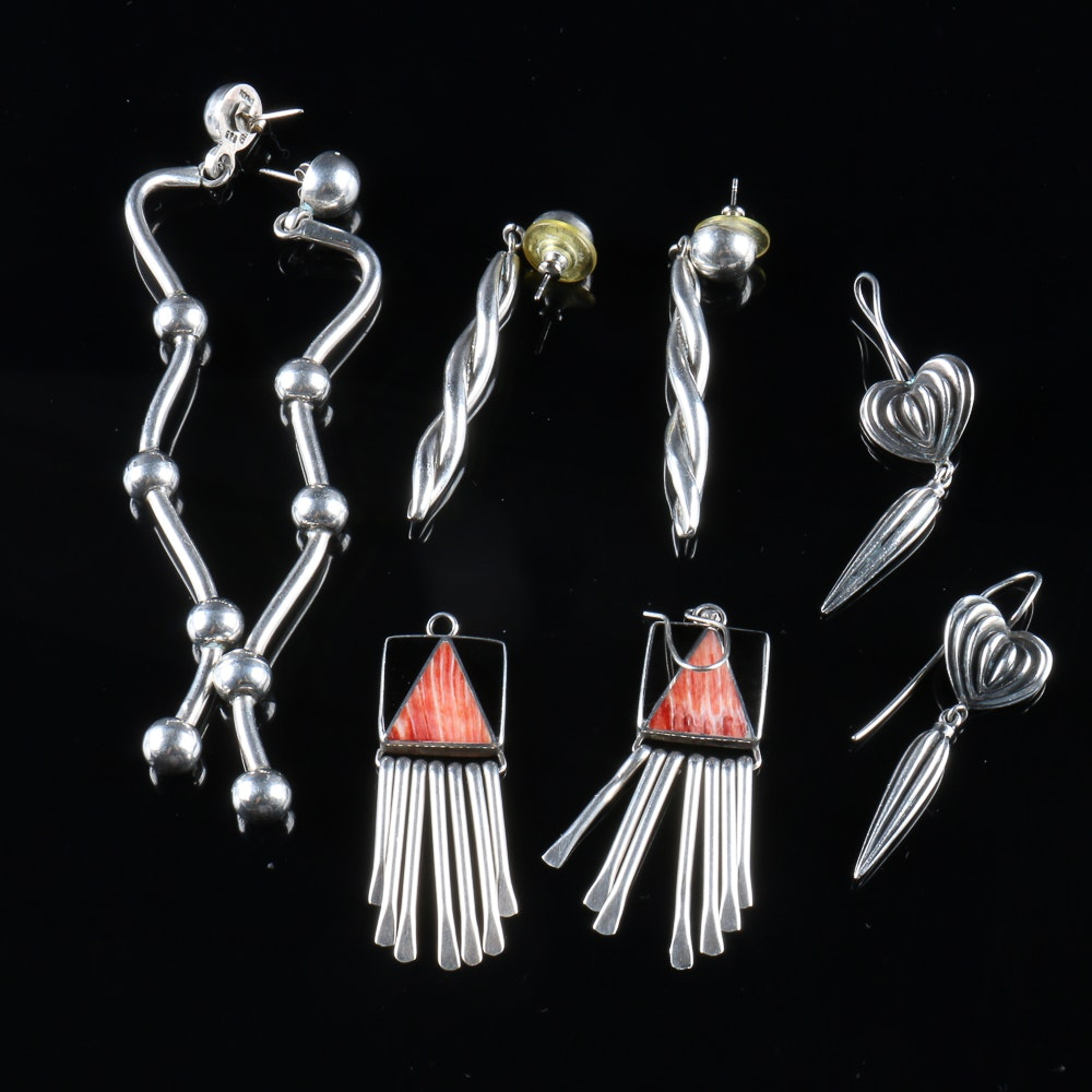 Collection of Sterling Earrings