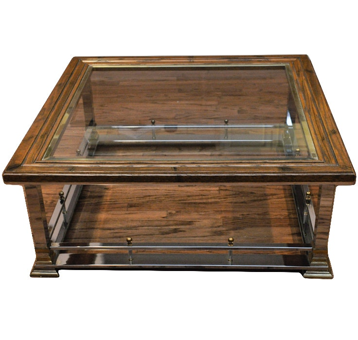 Glass Top Art Deco Coffee Table ...