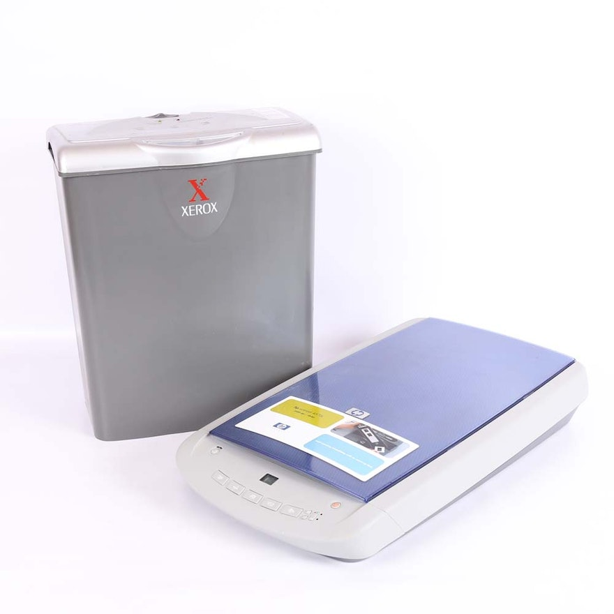 HP Scanner and Xerox Paper Shedder
