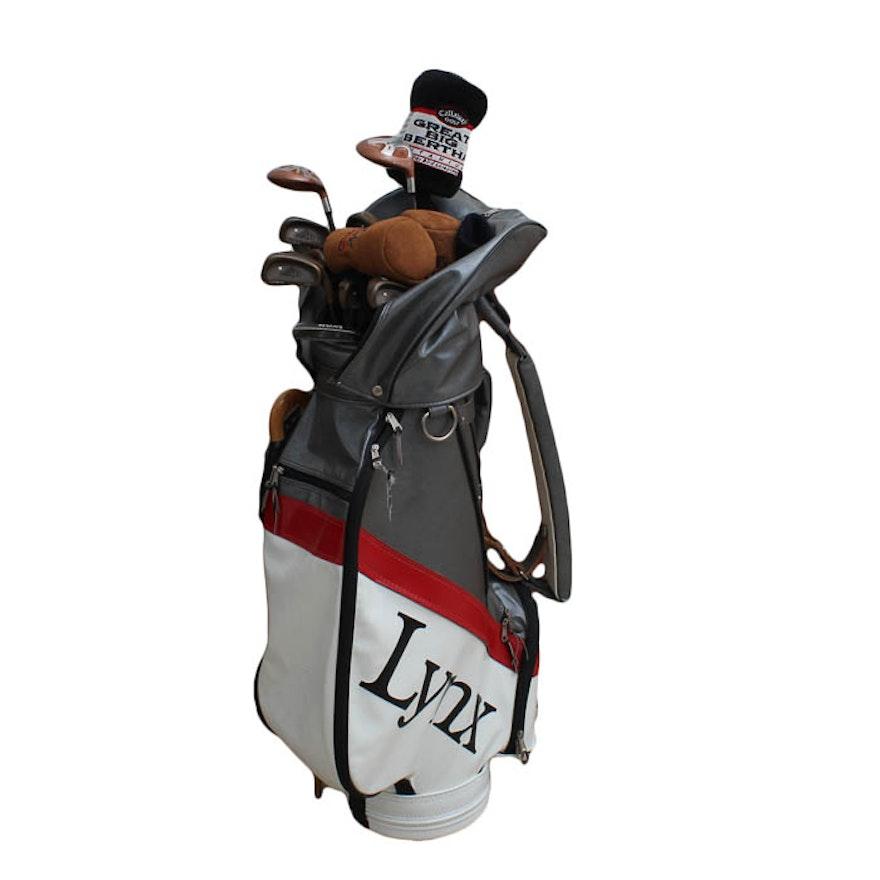 Lynx Golf Club Bag With Clubs