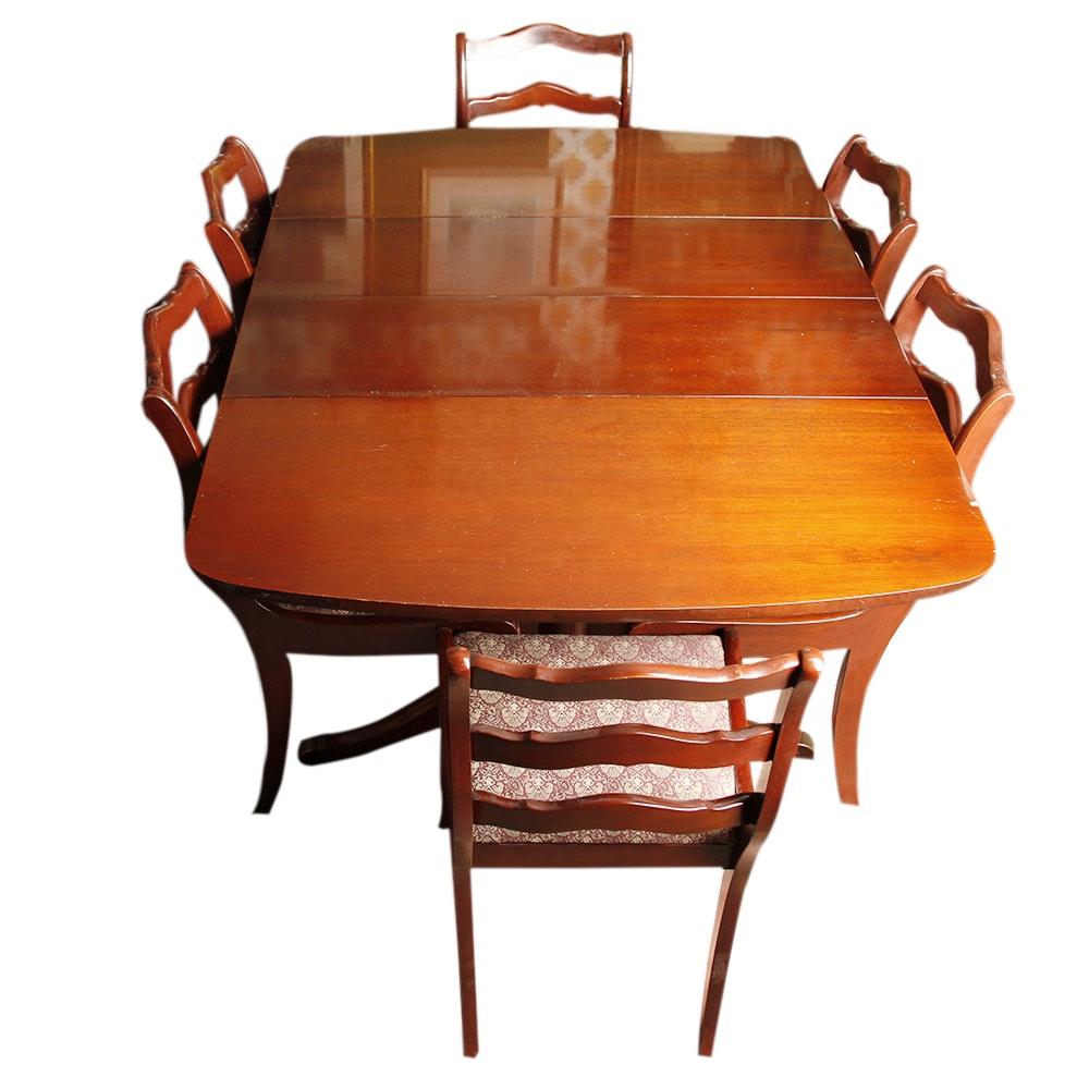 Duncan Phyfe Style Drop Leaf Mahogany Dining Table and  : MG2272jpgixlibrb 11 from www.ebth.com size 880 x 906 jpeg 98kB