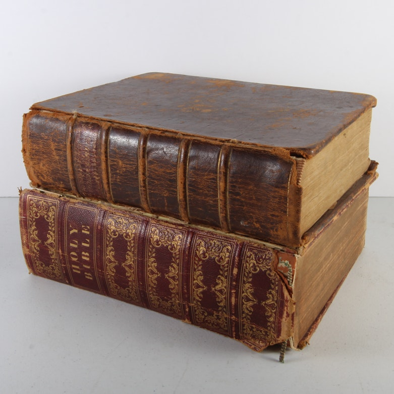 Antique Bibles and Book of Genealogy