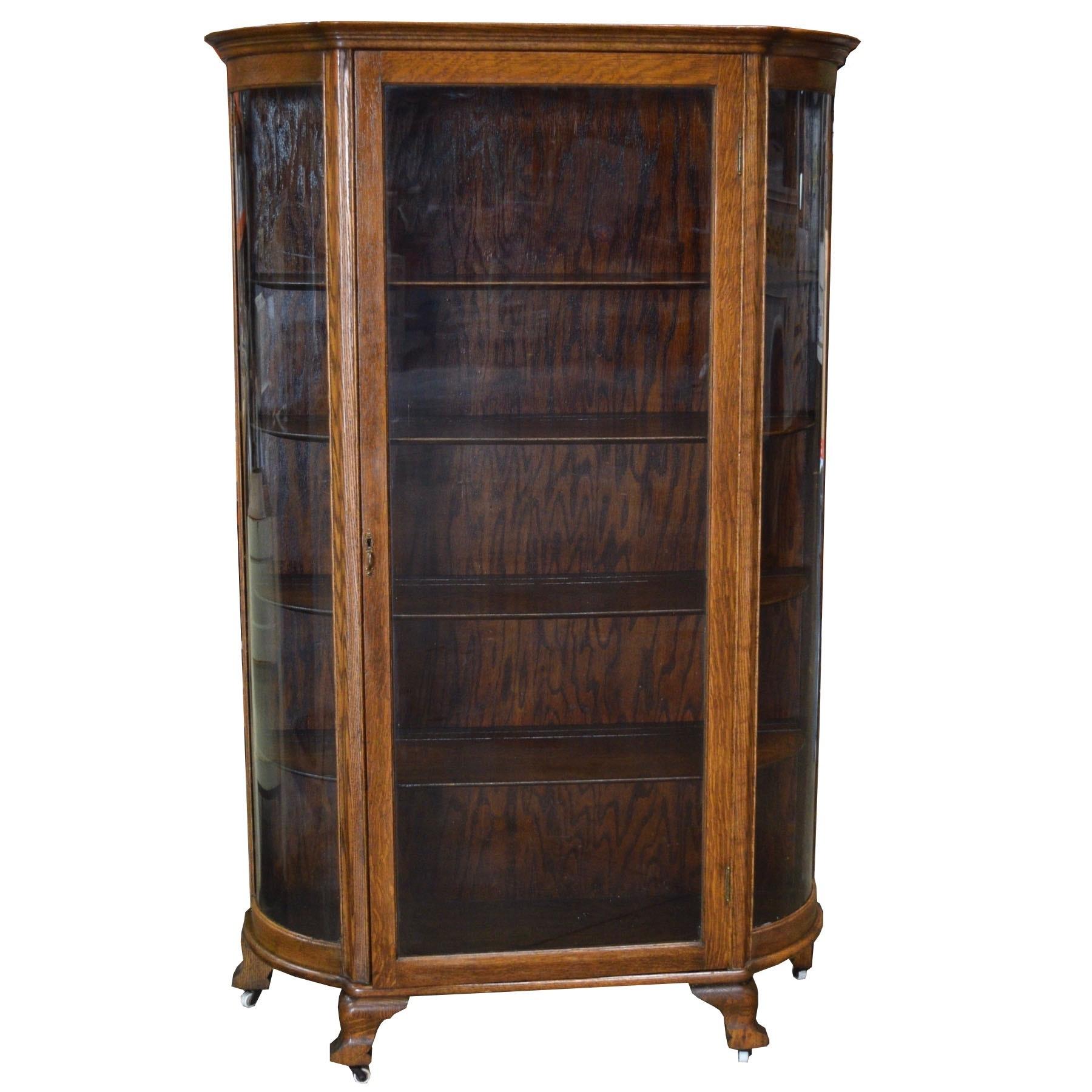 Antique Victorian Curio Cabinet ...