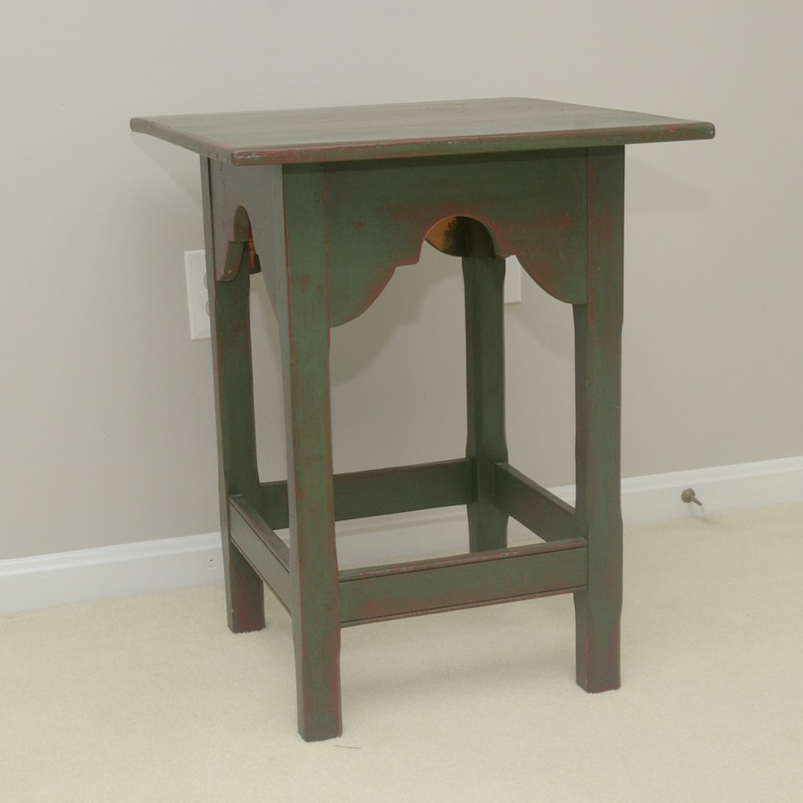 Distressed Wood Side Table By Stephen Von Hohen