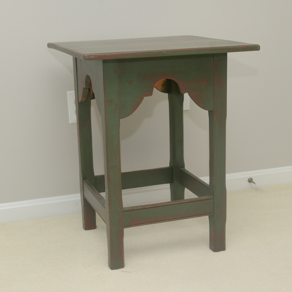 Distressed Wood Side Table By Stephen Von Hohen ...