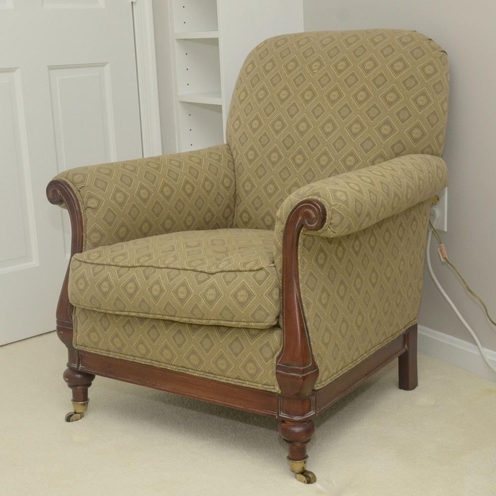 Nice Drexel Heritage Chair With Lillian August Collection Upholstery