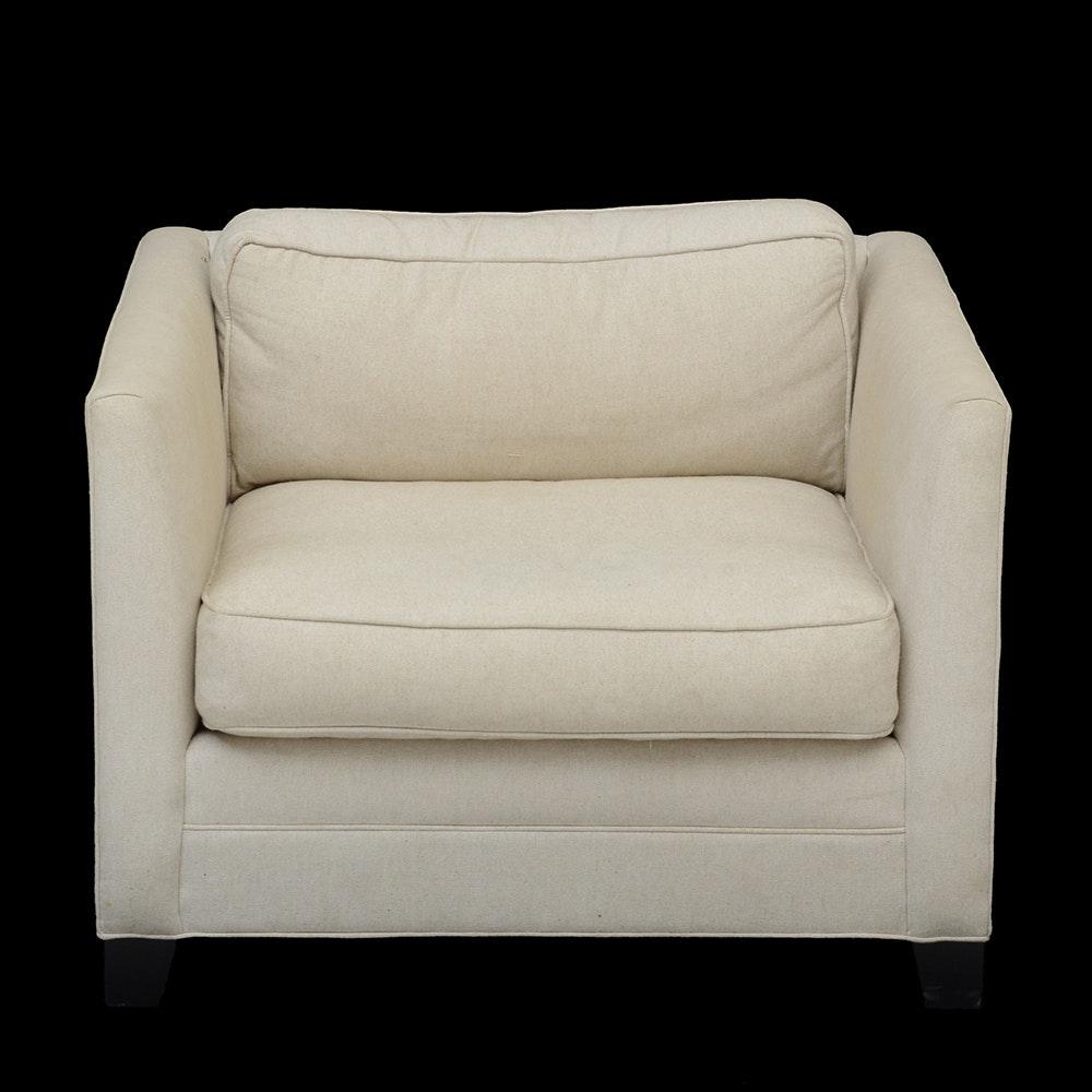 William Sonoma Belgian Linen Club Chair ...