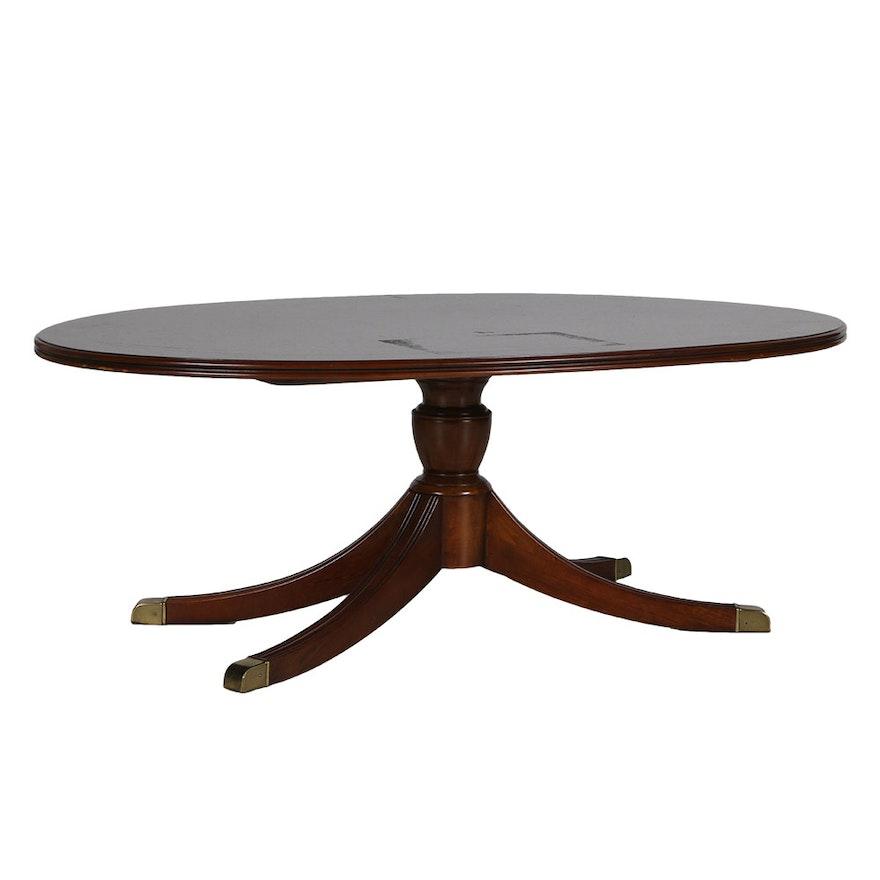 Lane Furniture Wood Coffee Table: Lane Furniture Oval Coffee Table : EBTH