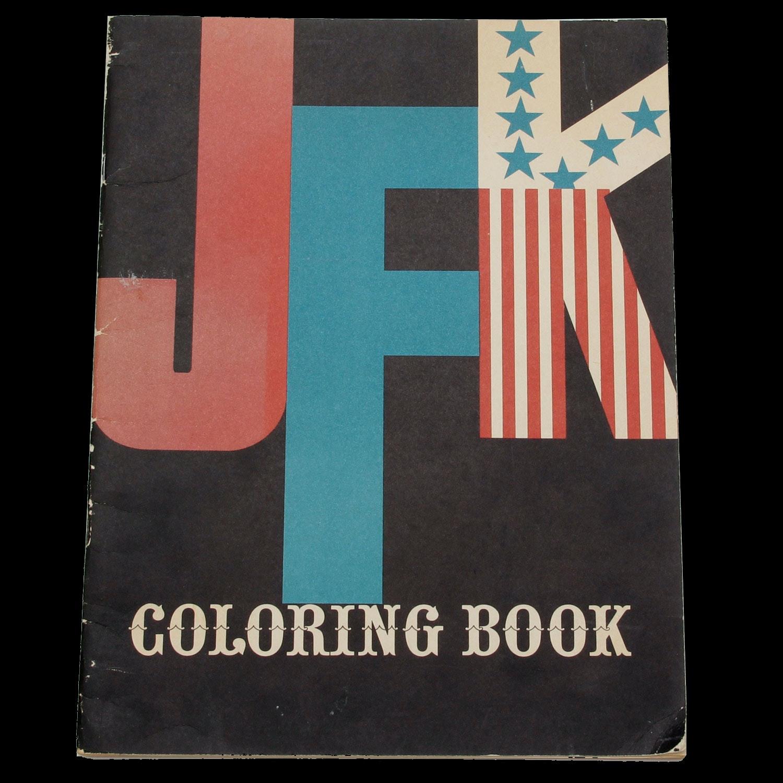 Vintage 1962 JFK Coloring Book