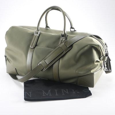 Ben Minkoff Olive Green Duffle Bag
