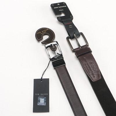 Ted Baker and John Varvatos Size 36 Belts