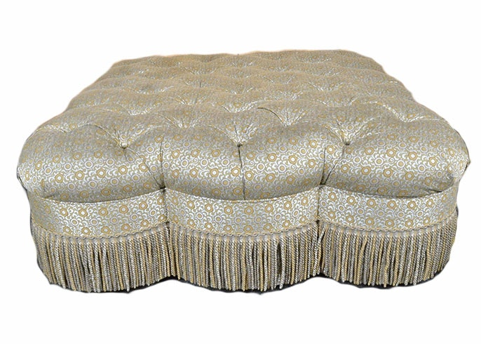 Large Cellura Tufted Ottoman on Casters