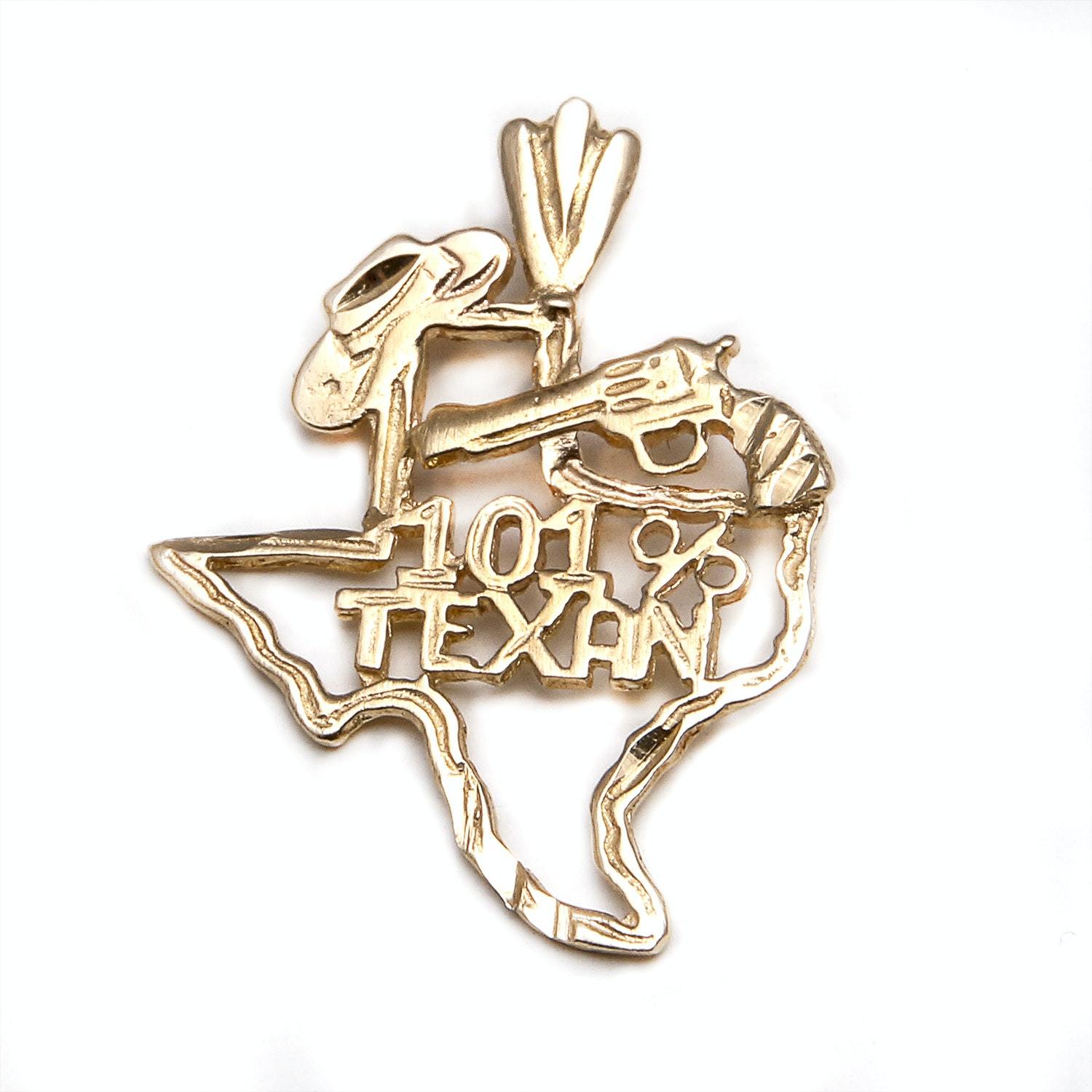 14K Yellow Gold Texan Pendant