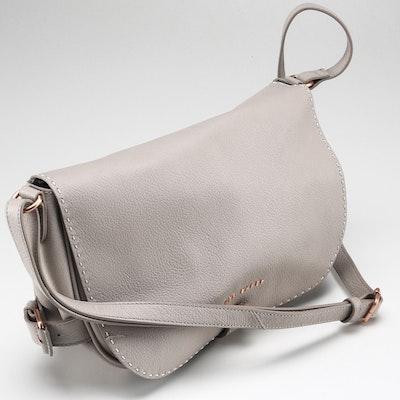 Ted Baker Beige Leather Saddle Bag