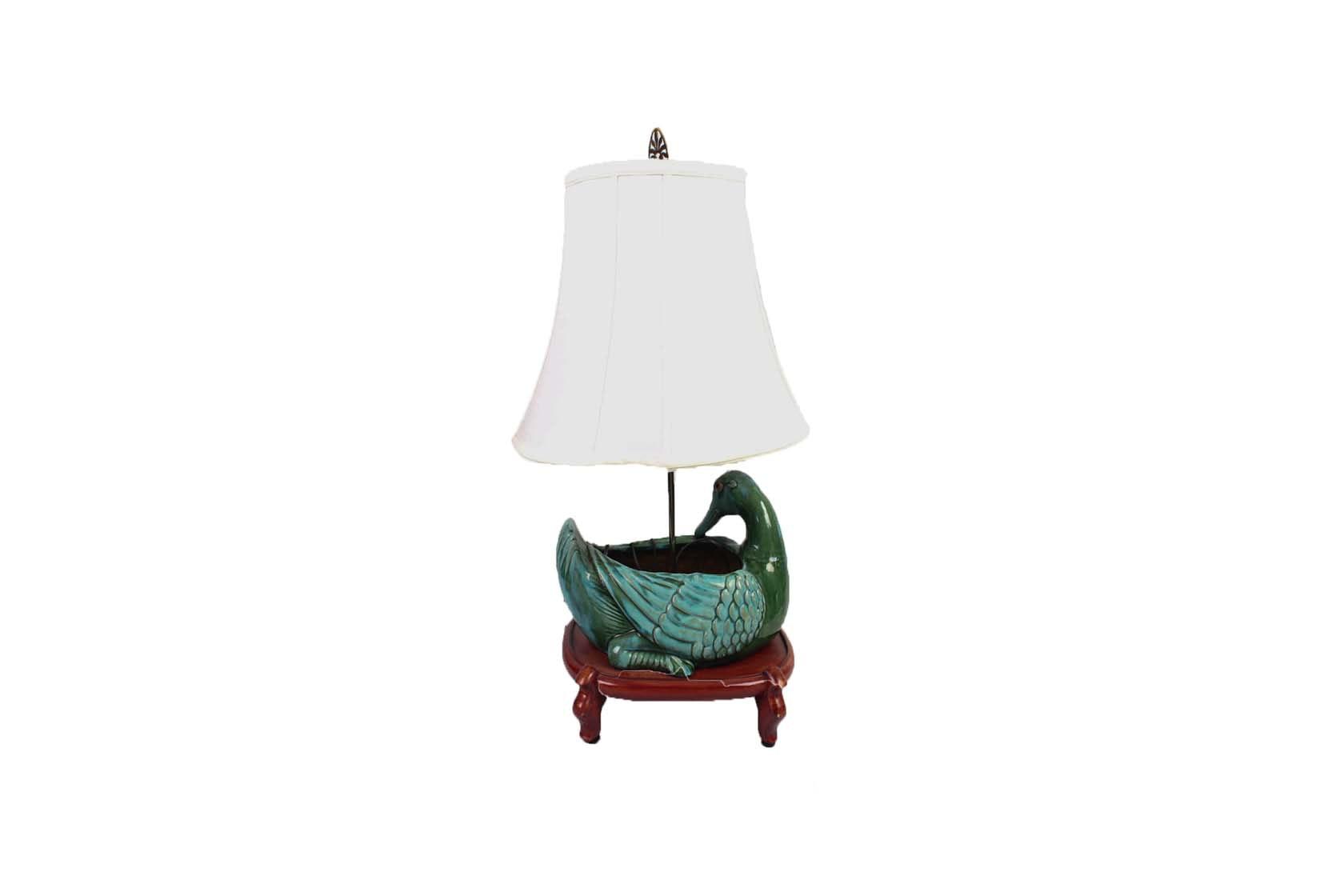 Ceramic Duck Lamp