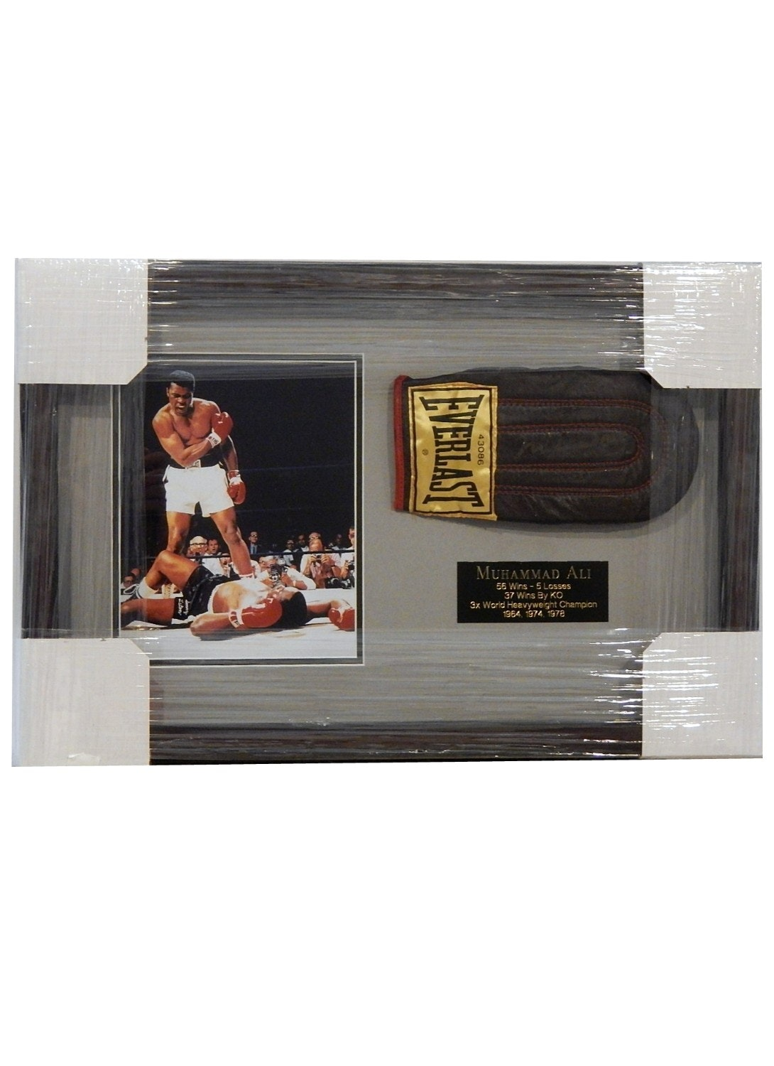 Muhammad Ali Framed Photograph and Signed Boxing Glove