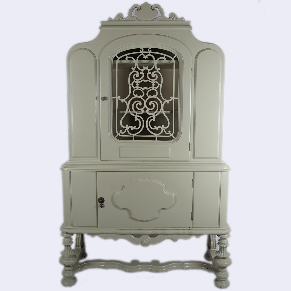 Vintage Jacobean Style China Cabinet