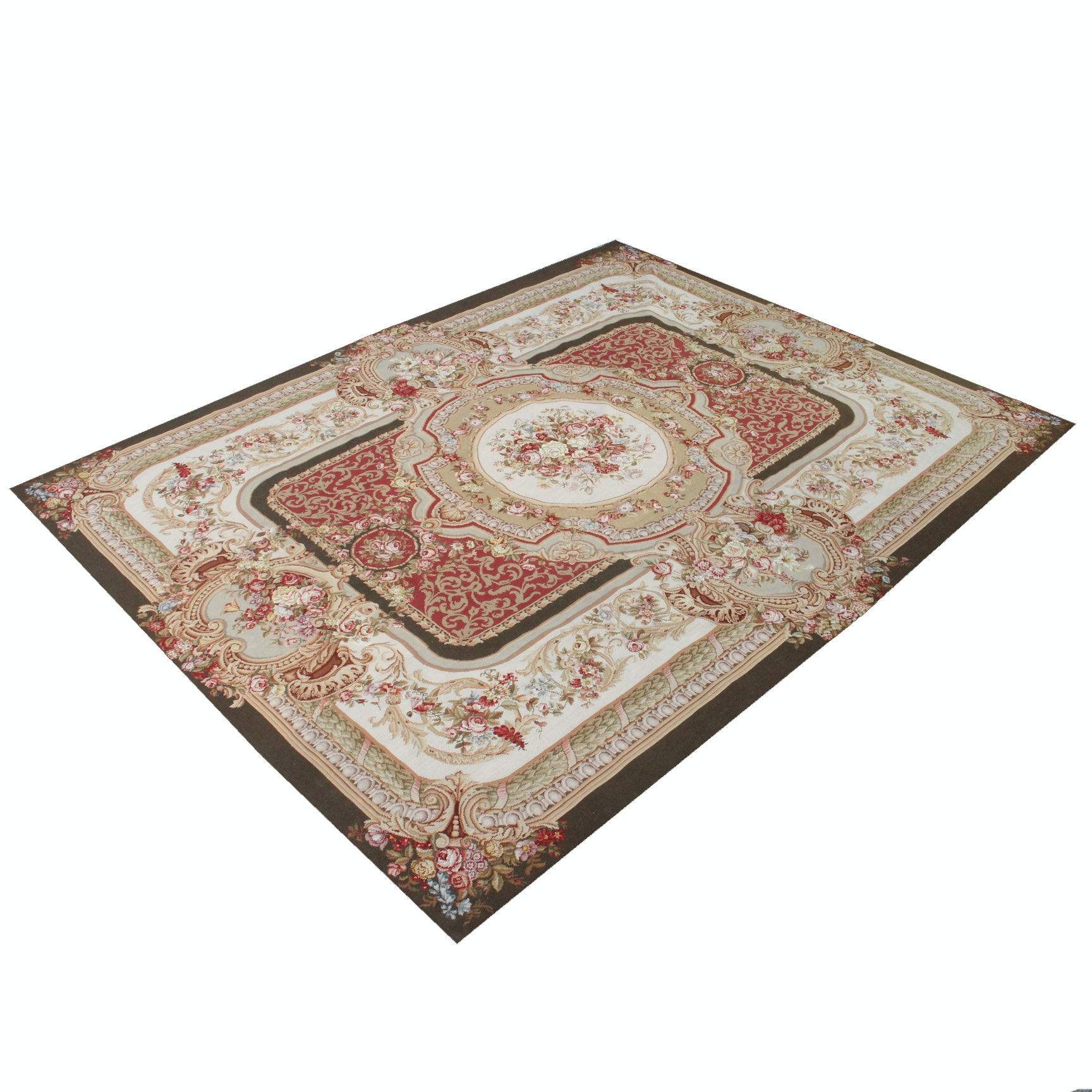 Large Needlepoint Savonnerie-Style Area Rug