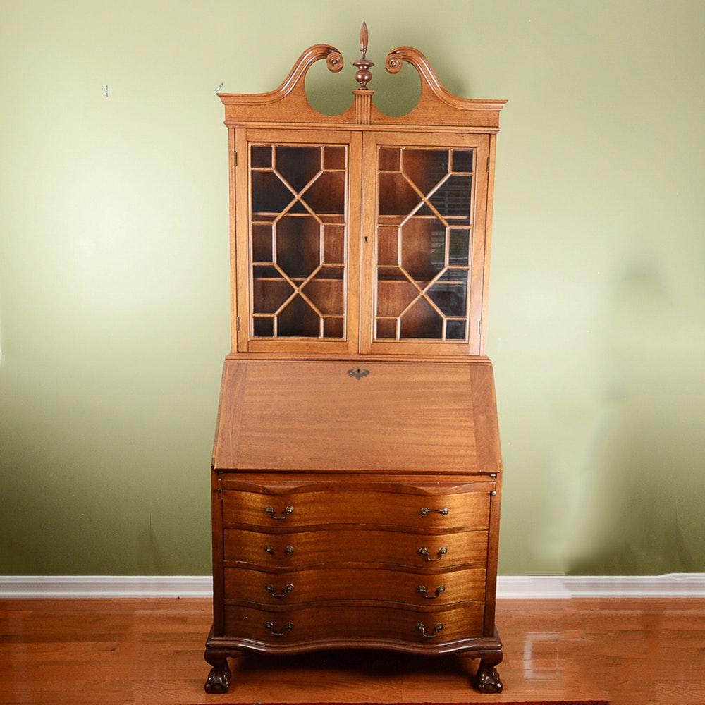 Vintage Mahogany Secretary Desk