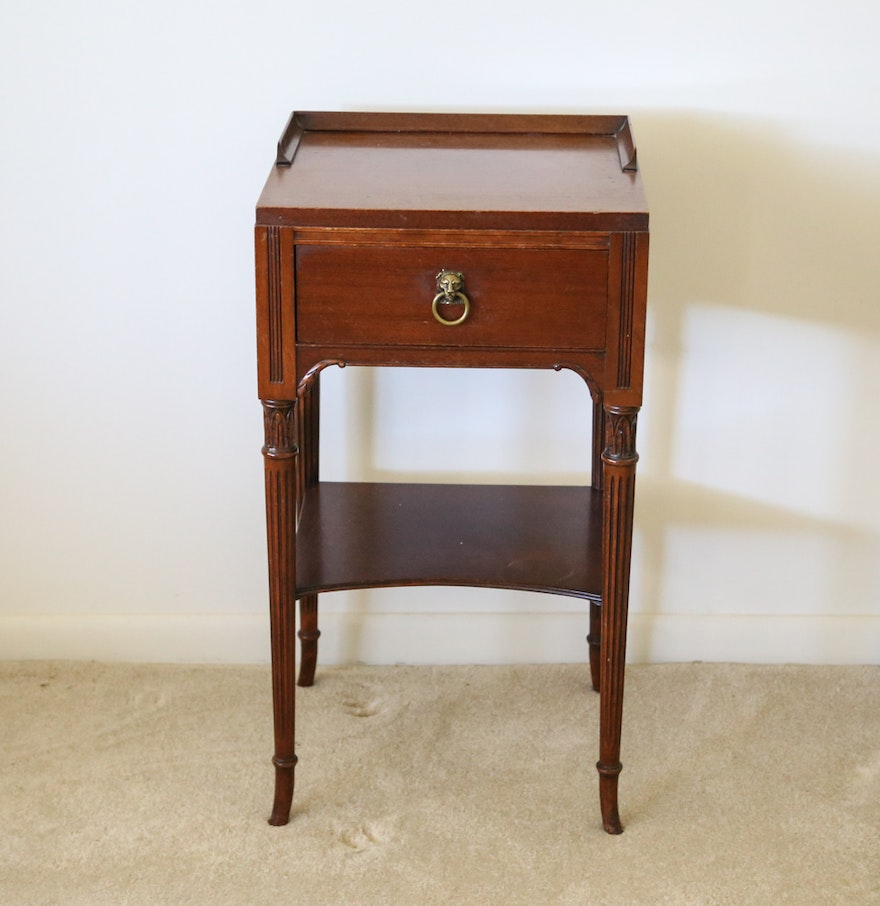 Vintage northern furniture company mahogany nightstand ebth for Furniture companies