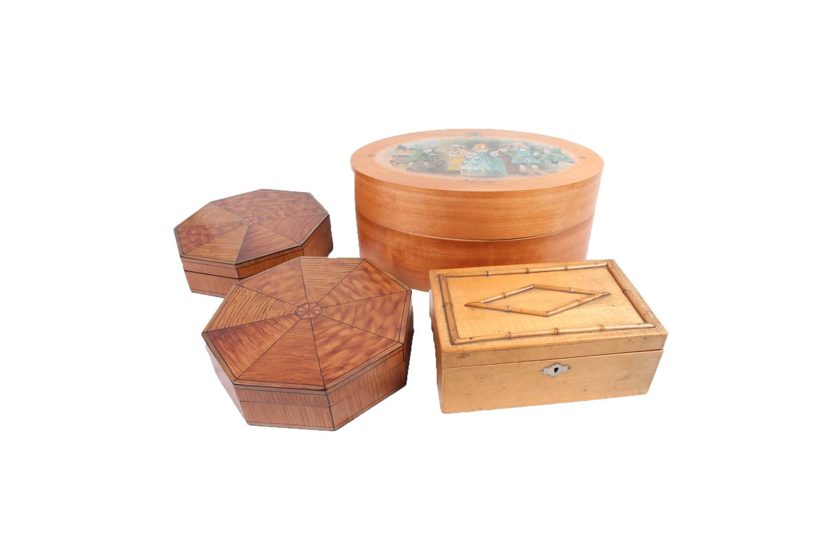 Assorted Wooden Trinket Boxes