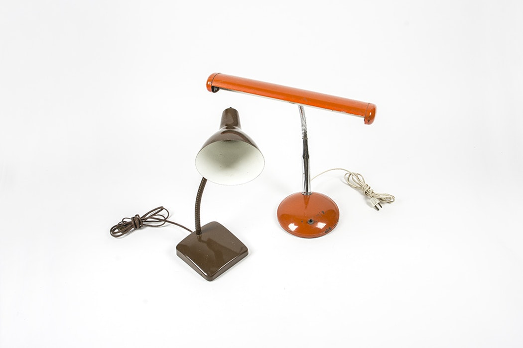 Vintage Gooseneck Lamps Including Keystone Lamp Mfg Corp ...