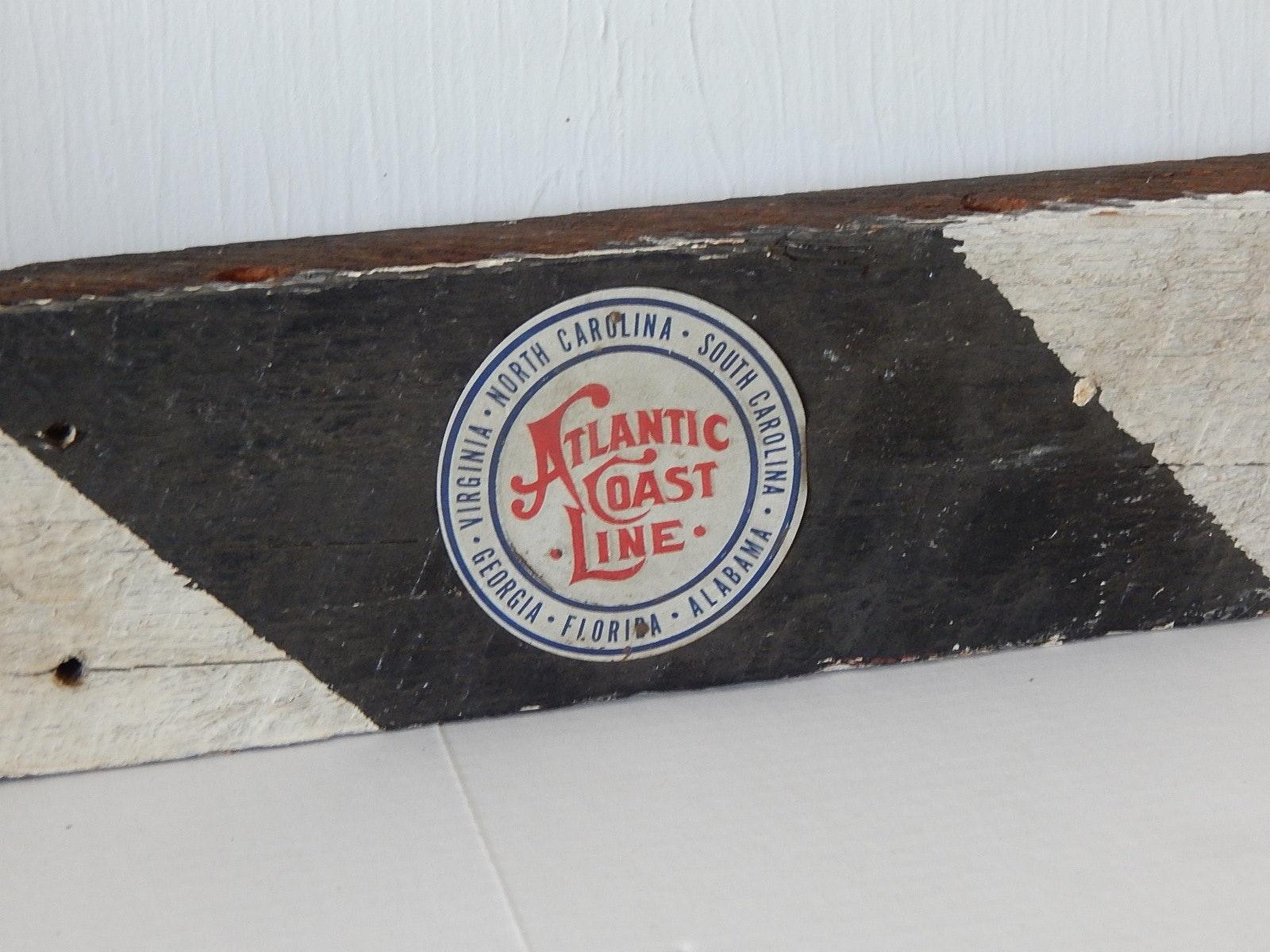 Painted Vintage Railroad Crossing Arm