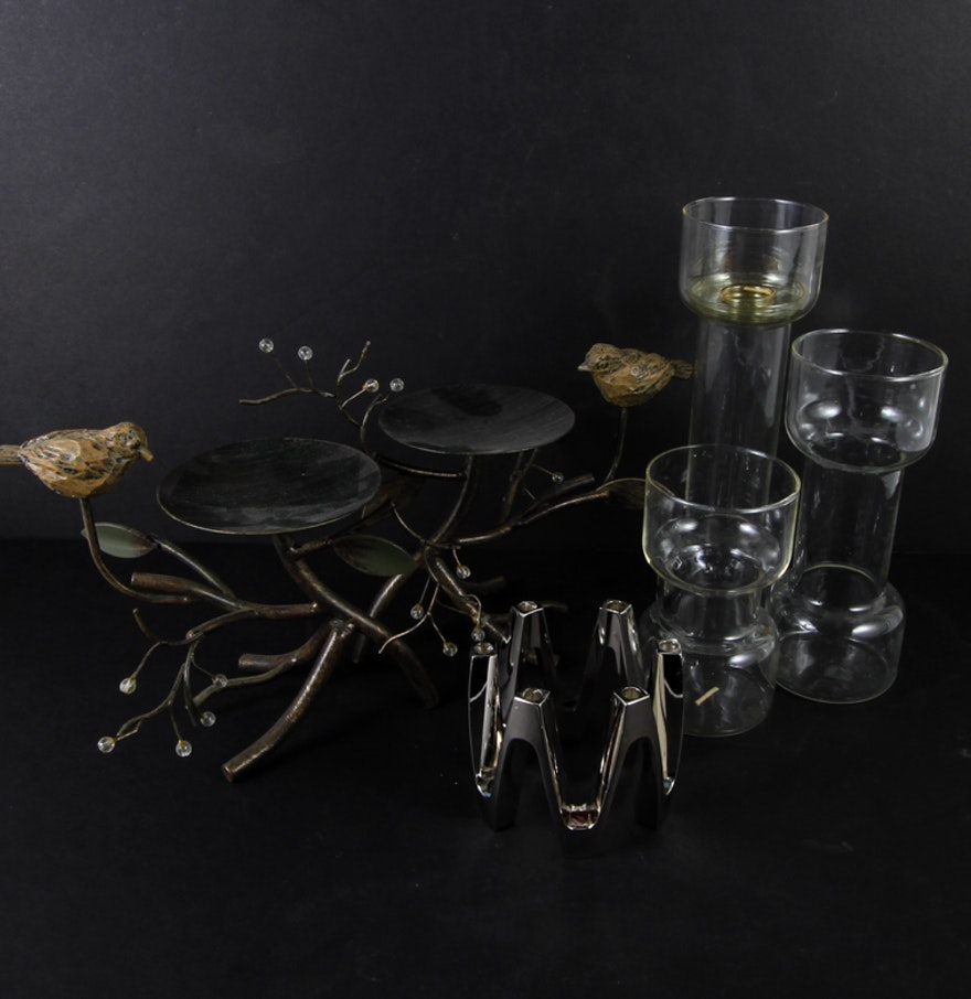 Decorative Candle Holders Corning And Dansk Decorative Candle Holders Ebth