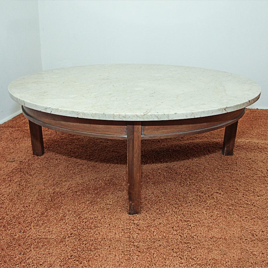 Marble Coffee Table Vintage: Vintage Italian Marble Top Coffee Table