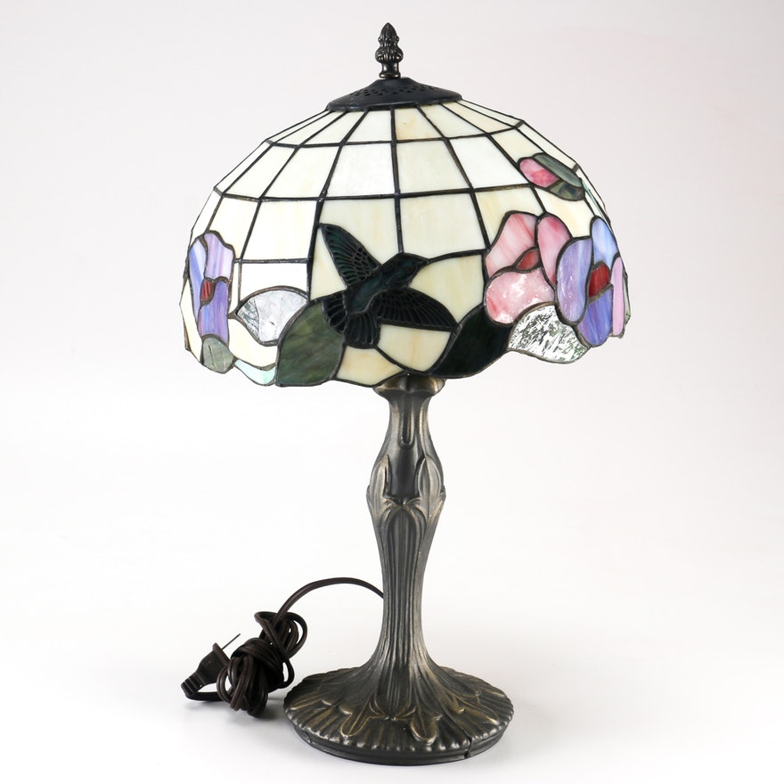 Tiffany Style Hummingbird Stain Gl Lamp